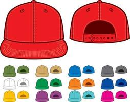 colección de gorra de rap vector