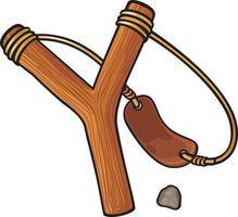 Wooden Slingshot Icon vector