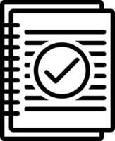 icono de línea para resumen vector