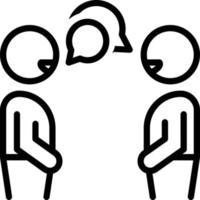 Line icon for conversation vector