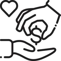 Line icon for charitable vector