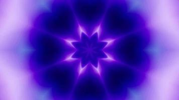 Abstract Neon Mist Flower Shaped Energy video