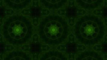 Green Toxic Gas Energy Kaleidoscope Background Loop video