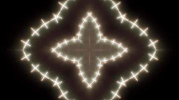 lámpara de luz en forma de cruz brillante video