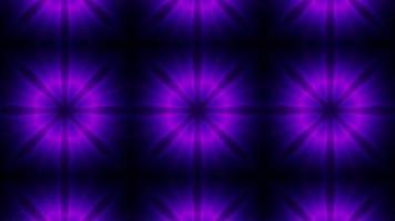 lazo de caleidoscopio de neón de energía púrpura brillante video