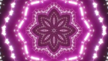 Pink Flower Shape Light Background Loop video