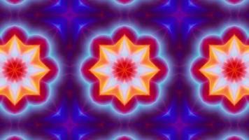 Red and Blue Energy Kaleidoscope Loop video