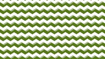 grön sicksack linje mönster bakgrund rörliga bild. video