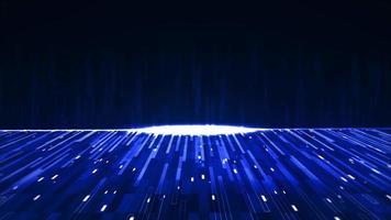blå abstrakt bakgrund med många glödande linjer video