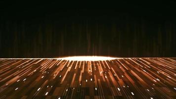 orange abstrakt bakgrund med många glödande linjer video