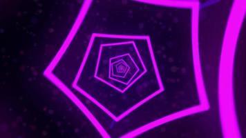 abstracte tunel bestaat uit neon helix video