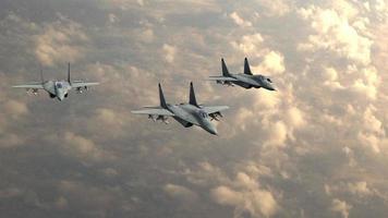 aereo da caccia militare nel cielo video
