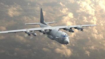 avion cargo dans le ciel video