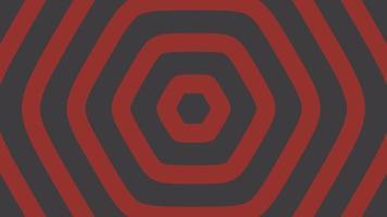 hexágonos rojos que emergen del centro de la composición video