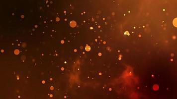 bokeh orange. superposition ou arrière-plan parfait. video