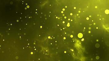 bokeh jaune. superposition ou arrière-plan parfait. video