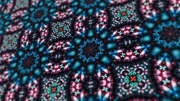 vacker mångfärgad kalejdoskopstruktur. video