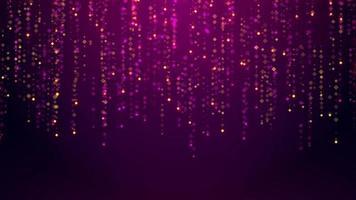 sfondo viola astratto con particelle video