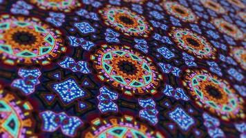 conception unique de kaléidoscope video