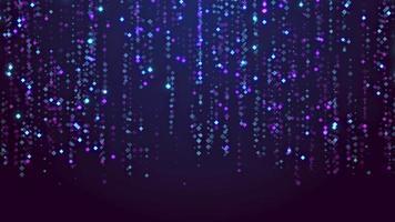 abstracte blauwe achtergrond met deeltjes video