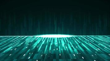 green abstract background with many glowing lines video