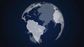 draaiende wereldbol op een donkere achtergrond video