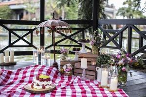 Decorative Venue Design, Luxury Dining Event Decor photo