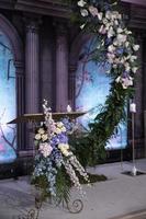 Wedding Hall Decor, Luxury Dining Event Decor photo