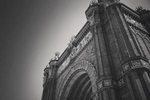 España, Barcelona, estatua de la victoria - monumento a la estatua de la victoria foto