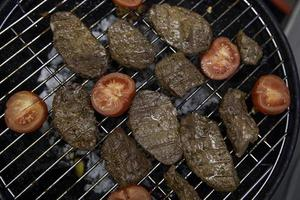 juicy pieces of grilled meat grilled meat photo