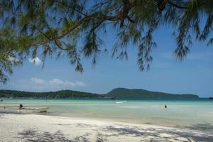 Saracen Bay beach in Koh Rong Samloen island in Cambodia photo