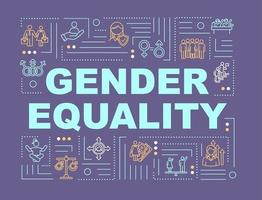Gender equality word concepts banner vector