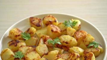 Potatoes on White Plate video