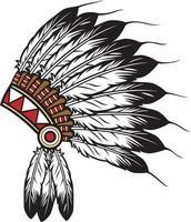 American Indian Chief vector
