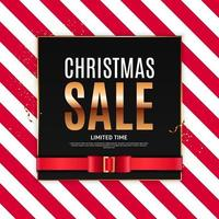 Christmas Sale Background Template. Vector Illustration