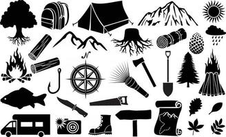 Camping Icon Collection vector