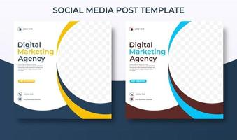 marketing agency social media template for corporate. vector
