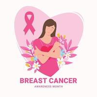 Breast cancer awareness month concept vector