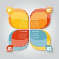 plantillas de infografía para la ilustración de vector de negocio.