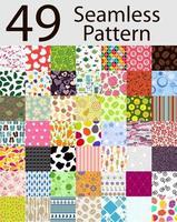 Seamless Pattern 49 Set Vector Illustration