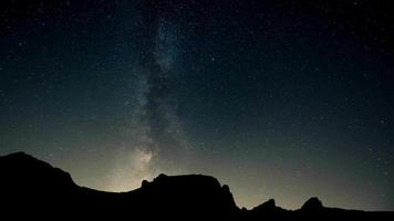 Awesome Night Sky Time Lapse with Milky Way Galaxy and Mountains video
