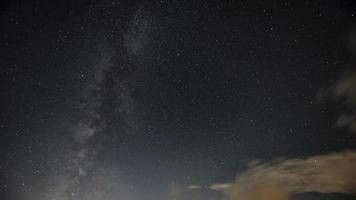 Awesome Milky Way Galaxy night sky with clouds TimeLapse video