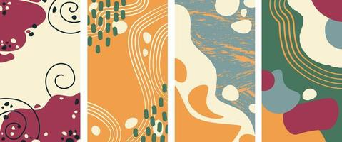 conjunto de fondo vertical abstracto en un estilo. estilo minimalista vector