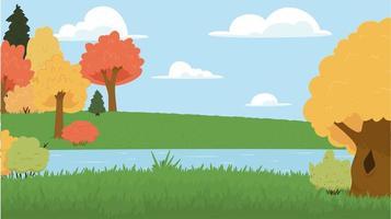 landscape park cartoon Vector illustration