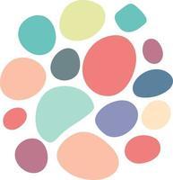 abstract random circle shape. Round Organic Pebble Ink stain egg shape vector
