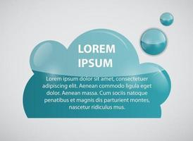 Speech bubble cloud vector illustration