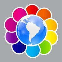 concepto de coloridos carteles circulares para el diseño de diferentes negocios. vector