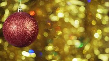 Christmas background with spinning ball video