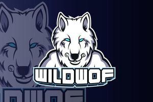 plantilla de equipo de logotipo de wild wolf e sport vector