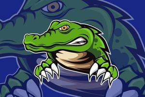 crocodile mascot for sports and esports logo vector